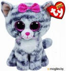 Мягкая игрушка TY Beanie Boos Кошка Kiki серая / 37190