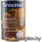 Защитно-декоративный состав Sniezkа Древкорн Expert 0.9л, темный орех