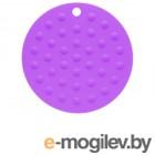 Коврик под горячее силиконовый, круглый, 17.5 х 0.2 см, фиолетовый, PERFECTO LINEA