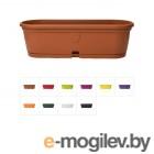 Ящик балконный для цветов Gerber (Гербера) 35x12,5 см с поддоном, DRINA (цвета )