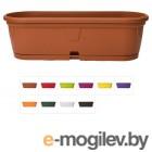 Ящик балконный для цветов Gerber (Гербера) 50x15 см с поддоном, DRINA (цвета )