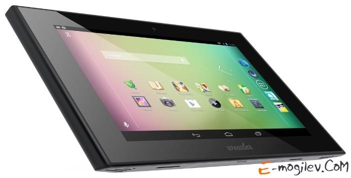 "WEXLER TAB 7t 7"" IPS LED(1280x800) A9 Cortex T30L Quadcore(1.3GHz)/1Gb/8Gb/WiFi/BT/GPS/Cam 5.0Mp+0.3Mp/4500mAh/Android 4.1/Black"