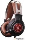 Наушники с микрофоном A4 Bloody G430 черный/коричневый 2.2м мониторы оголовье