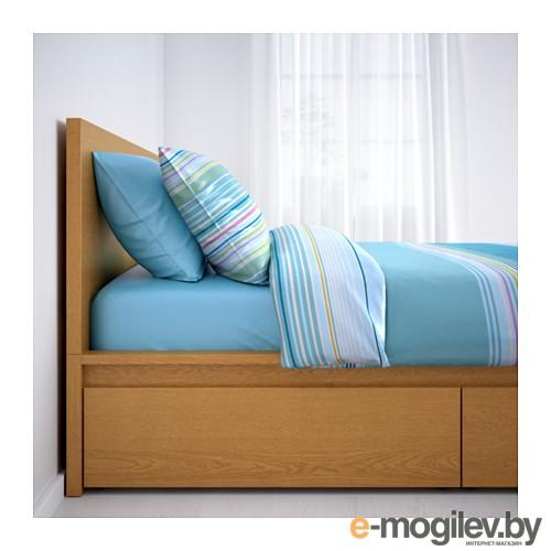 Высокий каркас кровати/4 ящика МАЛЬМ
