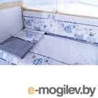 Комплект в кроватку Баю-Бай Дружба К60-Д4 синий
