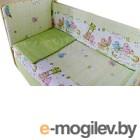 Комплект в кроватку Баю-Бай Забава К50-З3 (зеленый)