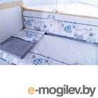 Комплект в кроватку Баю-Бай Дружба К30-Д4 синий