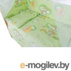 Комплект в кроватку Баю-Бай Нежность К31-Н3 (зеленый)