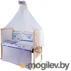 Комплект в кроватку Баю-Бай Дружба К120-Д4 синий