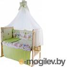 Комплект в кроватку Баю-Бай Забава К80-З3 (зеленый)