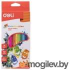 Карандаши цветные Deli Color Emotion EC00200 трехгранные липа 12цв. коробка/европод.