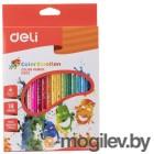 Карандаши цветные Deli Color Emotion EC00210 трехгранные липа 18цв. коробка/европод.