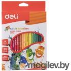 Карандаши цветные Deli Color Emotion EC00230 трехгранные липа 36цв. коробка/европод.