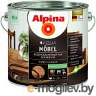 Лак Alpina Aqua Moebel 2.5л, шелковисто-матовый