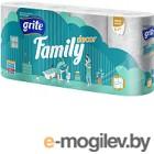 Туалетная бумага Grite Family Deco трехслойная неокрашенная, 8рул