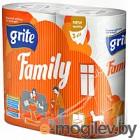 Туалетная бумага Grite Family трехслойная неокрашенная, 4рул