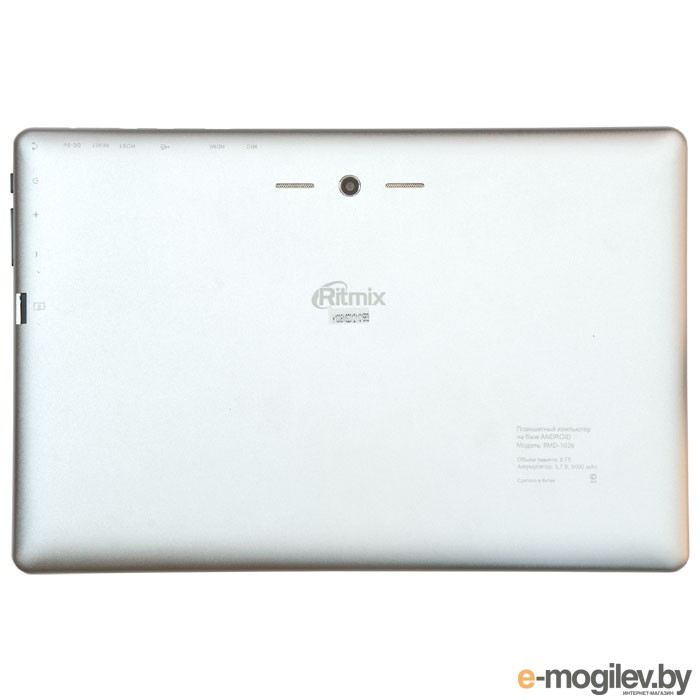 "Ritmix RMD-1026/10.1"" 1280x800 IPS/8GB/WiFi/CAM/Android 4.1/White"