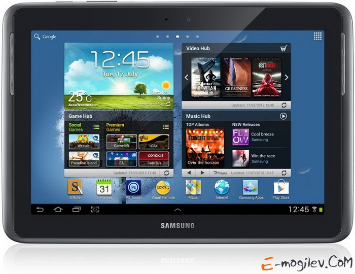 "Samsung GT-N8000 Galaxy Note/10.1""/2Gb/64Gb/ WiFi + 3G/Android4.0/Deep Grey (GT-N8000EAFSER)"