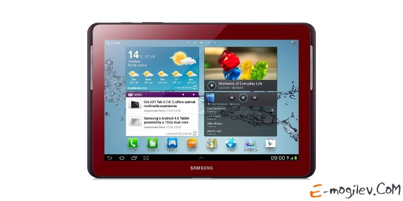 "Samsung GT-P5100 Galaxy Tab II 10"" 16Gb, WiFi + 3G, Red (GT-P5100GRASER)"