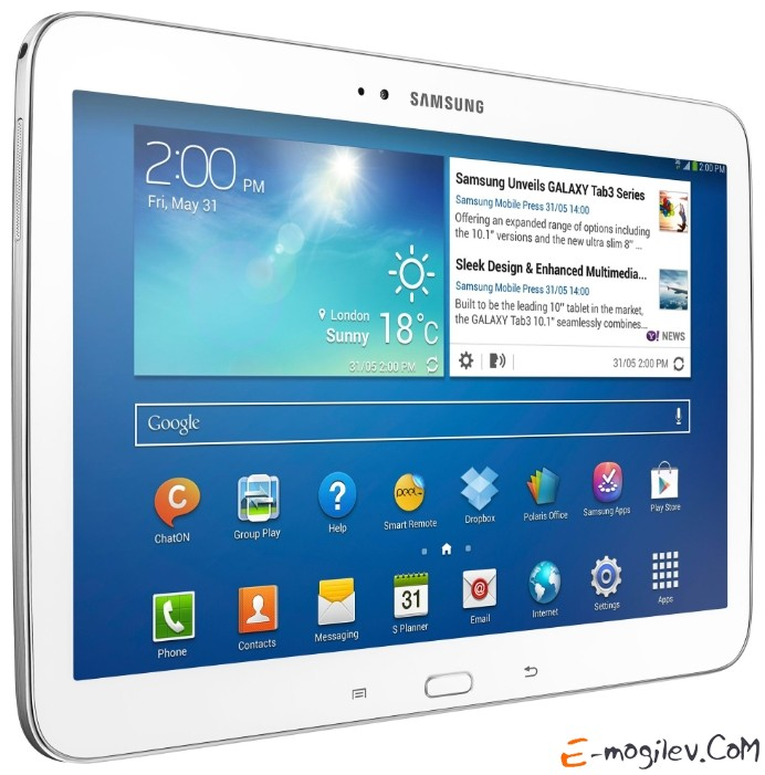 "Samsung GT-P5200 Galaxy Tab III 10"" 16Gb, WiFi + 3G, White"