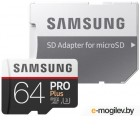 Samsung PRO Plus MB-MD64GA/RU microSDXC Memory Card 64Gb Class10 UHS-I U3+  microSD--> SD Adapter