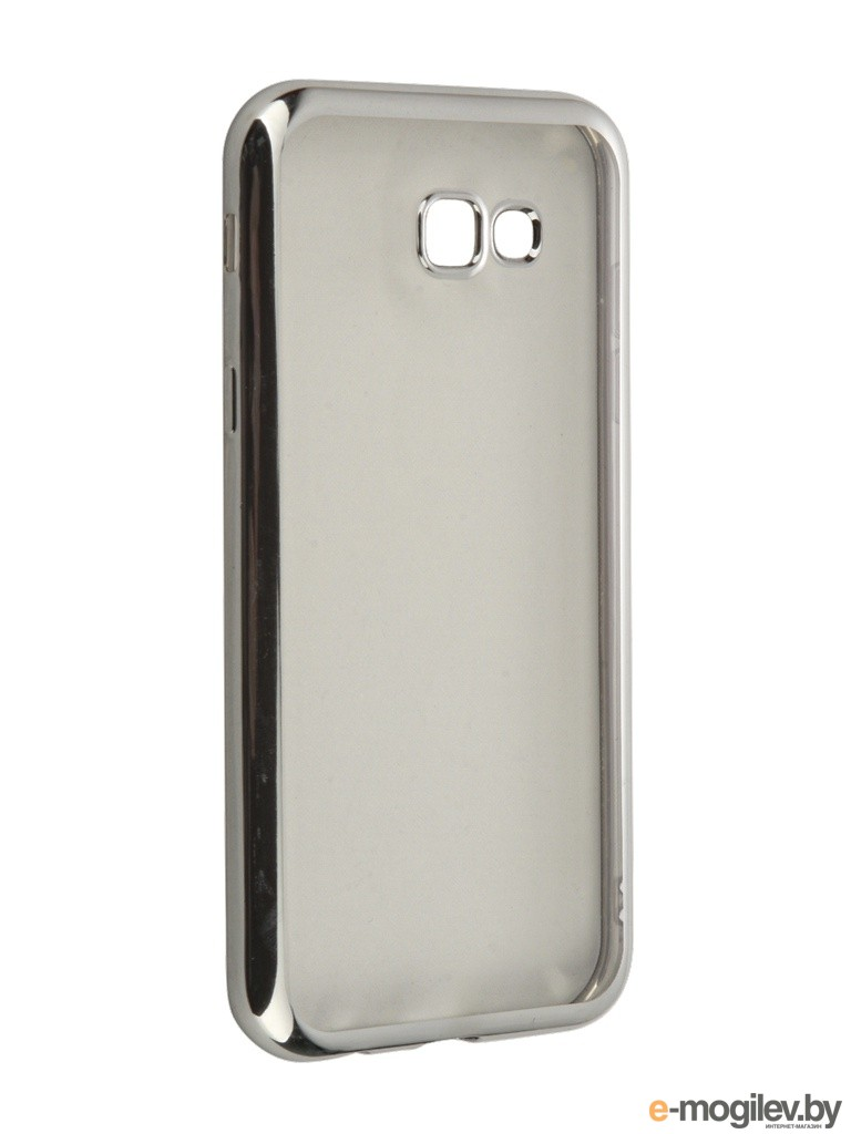 Чехол Samsung Galaxy A7 2017 SkinBox Silicone Chrome Border 4People Silver T-S-SGA72017-008