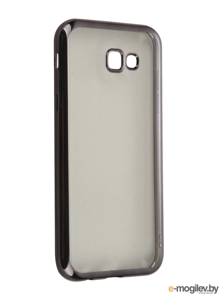 Чехол Samsung Galaxy A7 2017 SkinBox Silicone Chrome Border 4People Dark-Silver T-S-SGA72017-008