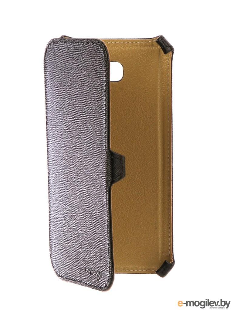 Чехол Samsung Galaxy A7 Snoogy иск. кожа Black SN-SMb-a7/2017/-BLK-LTH