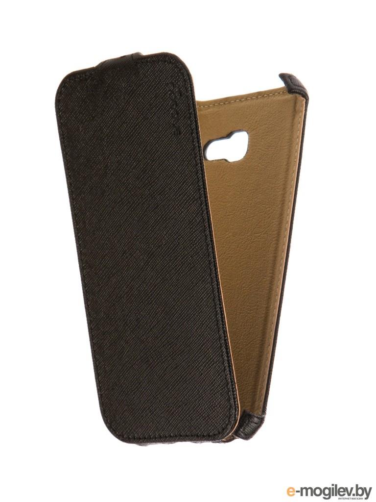 Чехол Samsung Galaxy A5 Snoogy иск. кожа Black SN-SMb-a5/2017/-BLK-LTH