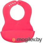 Happy Baby Baby Plastik Bib 16000 красный