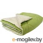 Одеяло Angellini 7с014бл 140x205, зеленый/белый