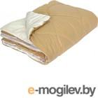 Одеяло Angellini 7с014лл 140x205, бежевый/белый