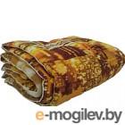 Одеяло Angellini 3с714о 140x205, город коричневый