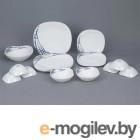 Тарелка обеденная стеклокерамическая, 278 мм, квадратная, серия BELLADONNA (Красотка), DIVA LA OPALA (Quadra Collection)