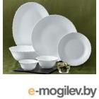 Тарелка обеденная стеклокерамическая, 250 мм, круглая, серия Classique (Классик), DIVA LA OPALA (Collection Classique)