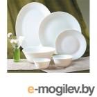 Тарелка десертная стеклокерамическая, 190 мм, круглая, серия Ivory (Айвори), DIVA LA OPALA (Collection Ivory)