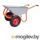 Тачка строительно-садовая ТССР-2П (100л, 200 кг, 2 пневмоколеса 400х90мм, вес 18,5 кг) (КОМ)