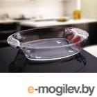 Форма из закаленного стекла, 1.7 л, овальная, Праймекс (Primex), NORITAZEH (в индивидуальной цветной упаковке)