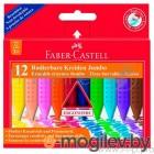 Восковые мелки Faber-Castell Jumbo 122540 трехгранные 12цв. картон.кор. стирающиеся