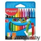 Восковые мелки Maped Color`peps 861011 трехгранные 12цв. картон.кор./европод.