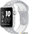 APPLE Watch Nike 42mm Silver Aluminium Case with Flat Silver-White Nike Sport Band MNNT2RU/A