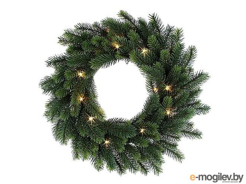 хвойный декор Black Box Новогодний венок 35cm 20 LED 292680