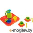 Набор игрушечной посуды Полесье Алиса с подносом на 2 персоны / 40572