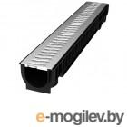 Лоток STANDART с решеткой стальной 100.125 h129, комплект, РБ (ecoteck)