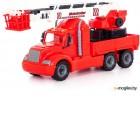 Автомобиль игрушечный Полесье Пожарный автомобиль Майк / 55620 (в сеточке)