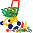 Детская тележка Полесье №6 с набором продуктов / 61904
