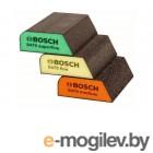 Набор губок абразивных BOSCH (3 шт.) (трапецевидные)
