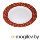 Тарелка обеденная стеклокерамическая, 275 мм, круглая, ANASSA RED (Анасса рэд), DIVA LA OPALA (Sovrana Collection)
