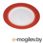 Тарелка обеденная стеклокерамическая, 275 мм, круглая, AMEERAH RED (Амира рэд), DIVA LA OPALA (Sovrana Collection)