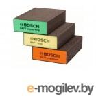 Набор губок абразивных BOSCH (3 шт.) (прямоугольные)